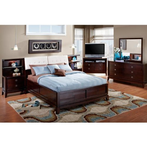 Spiga Bookcase 9 Pc King Bedroom