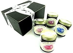 Maury Island Limited Harvest Jams 4-Flavor Variety: One 5.5 oz Jar Each of Red Raspberry, Blackberry-Raspberry, Strawberry, and Marionberry in a Gift Box