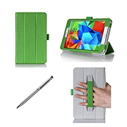 ProCase Folio Case with Stand for Samsung Galaxy Tab 4 8.0 Tablet 2014 ( 8 inch Tab 4, SM-T330 / T331 / T335), with Auto Sleep/Wake feature, bonus stylus pen included (Green)