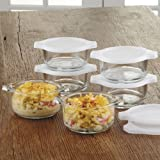 Libbey Just Baking Glass Mini-Casserole Set, 12 piece