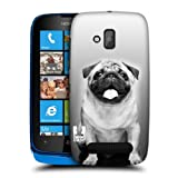 Head Case Designs Cute Male Pug Popular Dog Breeds Protective Snap-on Hard Back Case Cover for Nokia Lumia 610