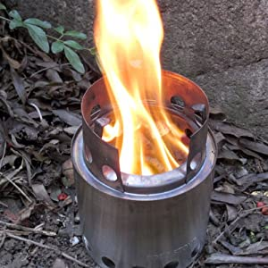 Solo Stove: Ultra Light Weight Wood Gas Backpacking Stove, Emergency Survival Stove, Wood Burning Camping Stove