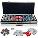Mallette poker - PC500-Ultimate - 500 jetons - 2 jeux de cartes - dés - boutons dealer - coffre inclus