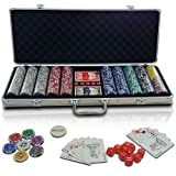Infantastic� PC500-Ultimate Poker Set including 2 Playing Cards Decks, 500 quality Poker Chips, Dealer-Button, Several Dice and Lockable Aluminium Caseby Infantastic�