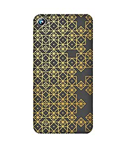 Golden Pattern Micromax Canvas Fire 4 A107 Case
