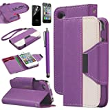 iPhone 4S Case, iPhone 4 Case, ULAK Luxury Wallet Case for iPhone 4S iPhone 4 PU Leather Credit Card Holder Flip Magnet Stand Cover with Screen Protector and Stylus (Purple+White) Reviews
