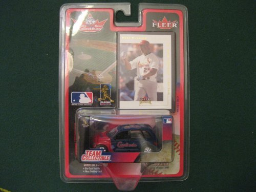 White Rose Collectibles Fleer Premium Mark McGwire Card and 1:64 Die-cast Cardinals 2001 PT Cruiser Team Collectible - 1