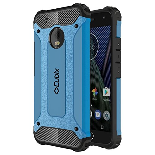 Moto G5 Case Cubix Rugged Armor Case For Motorola Moto G5 (Blue)