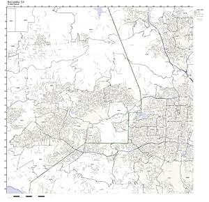 Amazon Com Simi Valley Ca Zip Code Map Laminated Home