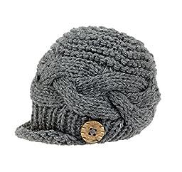 Bestknit Baby Boy knit Brimmed Newborn Photography Hat Cap Small Grey