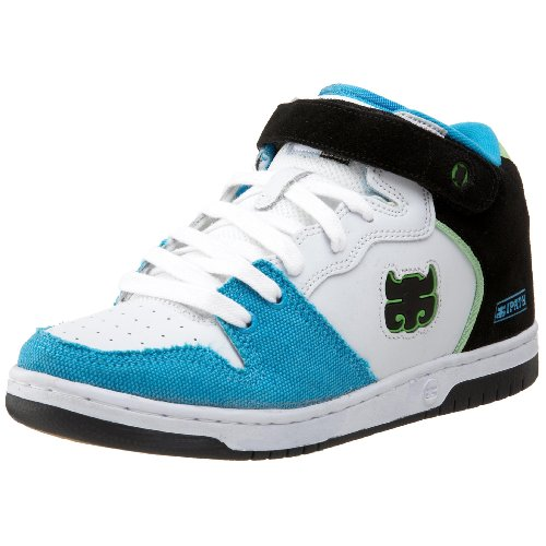 IPATH Men's Locust Athletic Skate Shoe,White/Turquoise,9 M US