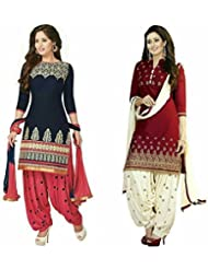 Fashion Galleria Women's Printed Unstitched Regular Wear Salwar Suit Dress Material (Combo Pack Of 2)(FG_CC_665...