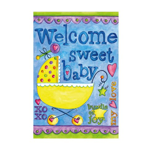 Baby Greeting Card With Garden Flag front-843212