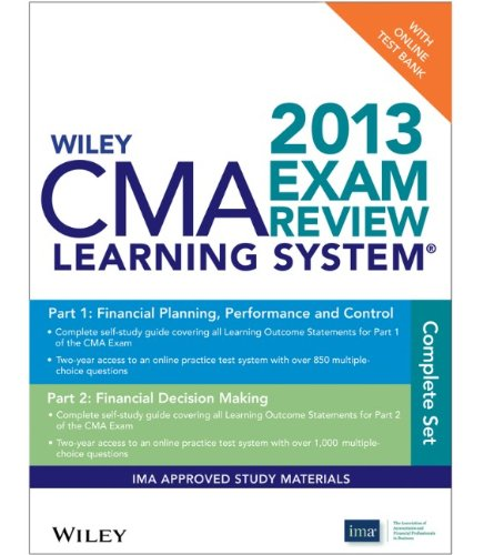 Wiley CMA Learning System Exam Review 2013: Test Bank