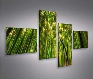 Bilder auf leinwand bamboo bambus wald feng - Leinwand amazon ...