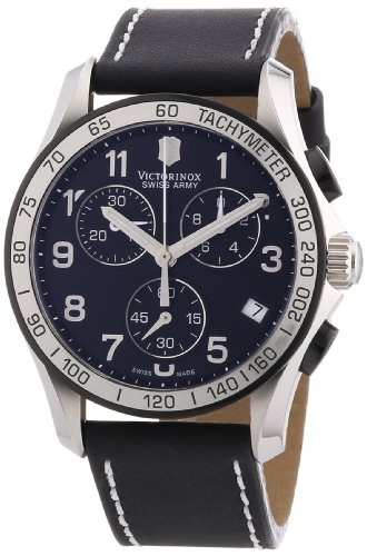 Victorinox Swiss Army Men's 241404 Chrono Classic Black Dial Watch image