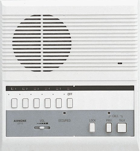 Aiphone Lef-5 Open Voice Selective Call Master Intercom With Door-Release Button, Accepts Up To Five Connecting Door, Sub-Master, Or Master Intercoms front-619134