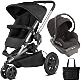 Quinny - Buzz Xtra Travel System with Bag - Black (Color: Black)