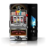 STUFF4 Phone Case Cover for Sony Xperia SolaMT27i Machine Design Slot Machine Collection