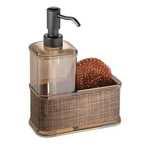 Countertop Dishwasher Bed Bath And Beyond : Amazon.com: InterDesign Twillo Kitchen Soap Dispenser Pump, Sponge and ...