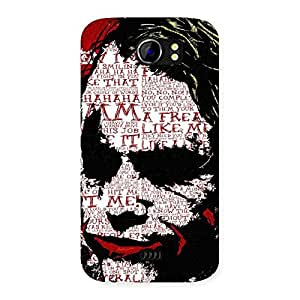 Psyco Typo Back Case Cover for Micromax Canvas 2 A110