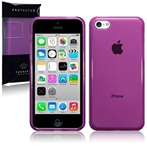 IPHONE 5C GLOSS GEL CASE COVER SKIN - PART OF THE CONSUMER STORE® ACCESSORIES RANGE (Purple)
