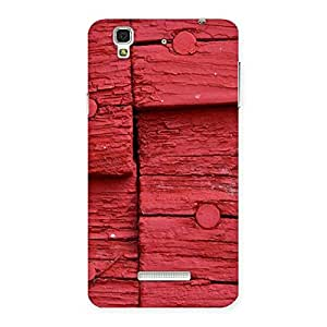 Ajay Enterprises Red Wood Back Case Cover for YU Yureka Plus