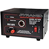 Pyramid PS15KX 10 Amp 13.8-Volt Power Supply with Cigarette Lighter Adapter