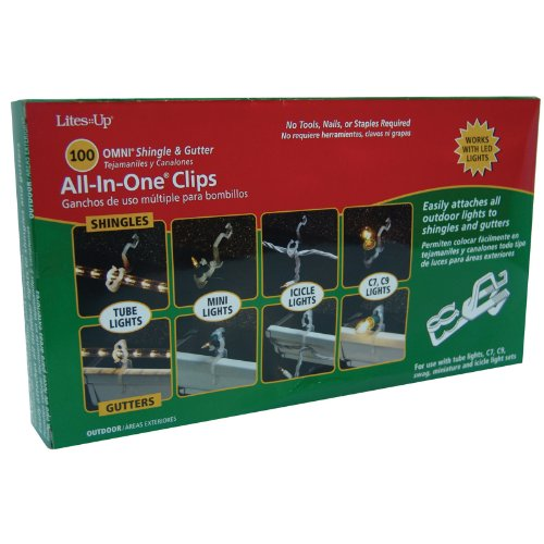Good Tidings 21423 Omni All-In-One Clip Outdoor Tube Or Icicle Light, 100 Count