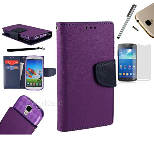 For Zte Radiant / Zte Sonata Z740 (At&T, Cricket) Pu Leather Flip Cover Folio Book Style Pouch Card Slot Myjacket Wallet Case With Transparent Tpu Slider + [World Acc] Tm Brand Lcd Screen Protector + Silver Stylus Pen + Black Dust Cap Free Gift (Pu Leathe
