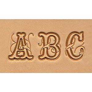Tandy Leather Factory Alphabet Set Script, 3/4-Inch