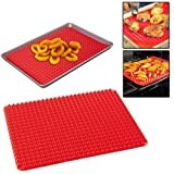SILICONE COOKING BAKING MAT PYRAMID NON STICK KITCHEN BAKE TRAY SHEET FAT REDUCE