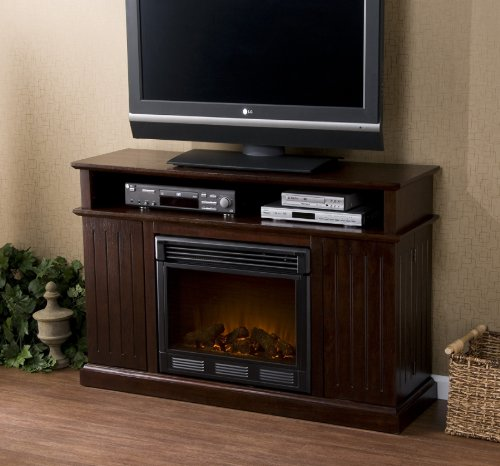 "Fenton Espresso Media Electric Fireplace (Espresso) (32.25""H x 48""W x 15""D)"
