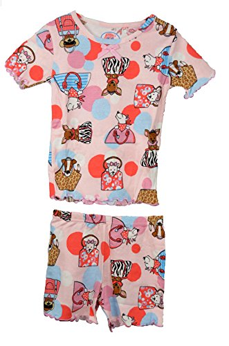 Sara'S Prints 100% Cotton Diva Dogs Short Play Sets - Girl'S front-652637