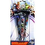 Marvel Avengers Assemble Ballpoint Pens With Clip And Rope, 3 Pens Per Pack (1 Pack)