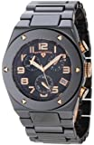Swiss Legend Men's 10028-BKBRA Throttle Chronograph Black Dial Black Ceramic Watch