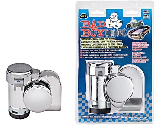 Wolo Model  519 Bad Boy Chrome One Piece Design Air Horn Kit - 12 Volt