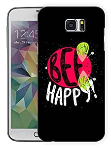"""Humor Gang Be Happy Bee QuotePrinted Designer Mobile Back Cover For """"Samsung Galaxy Note 6"""" (3D, Matte Finish, Premium Quality, Protective Snap On Slim Hard Phone Case, Multi Color)"""