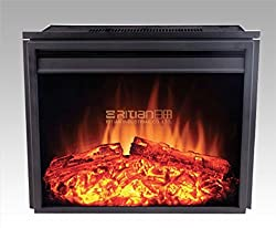 "23"" new Electric Fireplace Insert (2301T) Adjust Temperature, Heater flame, 22.5"" W x 10.83"" D x 28.19"" H 