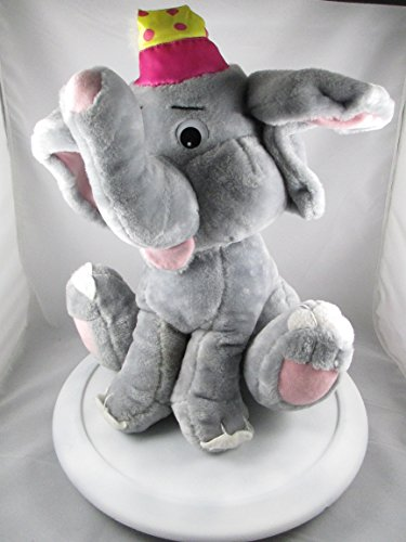 "18"" Gray Elephant Plush Stuffed Toy 1995"