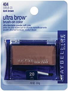 Maybelline New York Ultra-Brow Brow Powder,Shade #20 / #404 Dark Brown, 0.1 Ounce