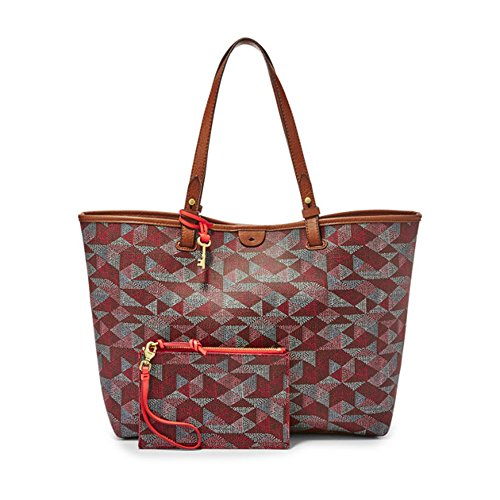 Borsa donna FOSSIL due manici Shopping Rachel Tote red multi ZB6818995