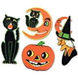 Pkgd Halloween Cutouts Party Accessory (1 count) (4 Pkg)