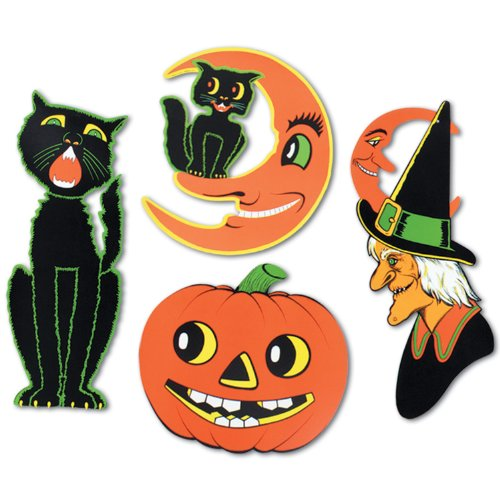 Pkgd Halloween Cutouts Party Accessory (1 count) (4/Pkg)