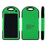 Solar Phone Charger - Borch Solar Panel Charger Cell Phone Portable Charger 12000mah Power Bank and Travel Charger. Utilizing Both Solar And/or Electrical Energy to Fully Charge Wireless Devices on the Go. Shockproof, Dustproof & Rainproof Provides the Freedom to Travel Anywhere with the Borch Solar Power Charger. External Battery Pack Compatible with Iphone 6 5.5 4.7 Inch 5s 5c 5 4s 4, Ipad Air, Other Ipads, Ipods(apple Adapters Not Included), Samsung Galaxy S6, S5, S4, S3, Note 3, Note 4 Galaxy Tab 3, 2, Nexus 4, 5, 7, 10, HTC One, One 2 HTC One M8 ,Motorola Atrix, Droid , Lg Optimus, Most Kinds of Android Smart Phones and Tablets,windows Phone, Gopro Camera and More Other Kindle, Nook, and All Standard USB 5v/1a Devices. (Green/Black)