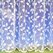 "Leaf White Net Curtain 90"" Drop -sold by the meter"