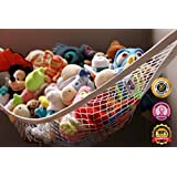 MiniOwls Storage Hammock Large Toy Organizer (also comes in XL size) High Quality De-cluttering Solution & Inexpensive Idea for Every Room at Home or Facility - 3% is Donated to Cancer Foundation
