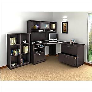 Amazon Com Bush Furniture Cabot 4 Piece Corner Computer