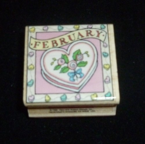 February Heart Rubber Stamp - 1