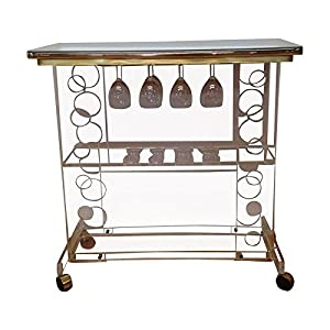 used mirrored lucite bar cart with wine rack. Black Bedroom Furniture Sets. Home Design Ideas